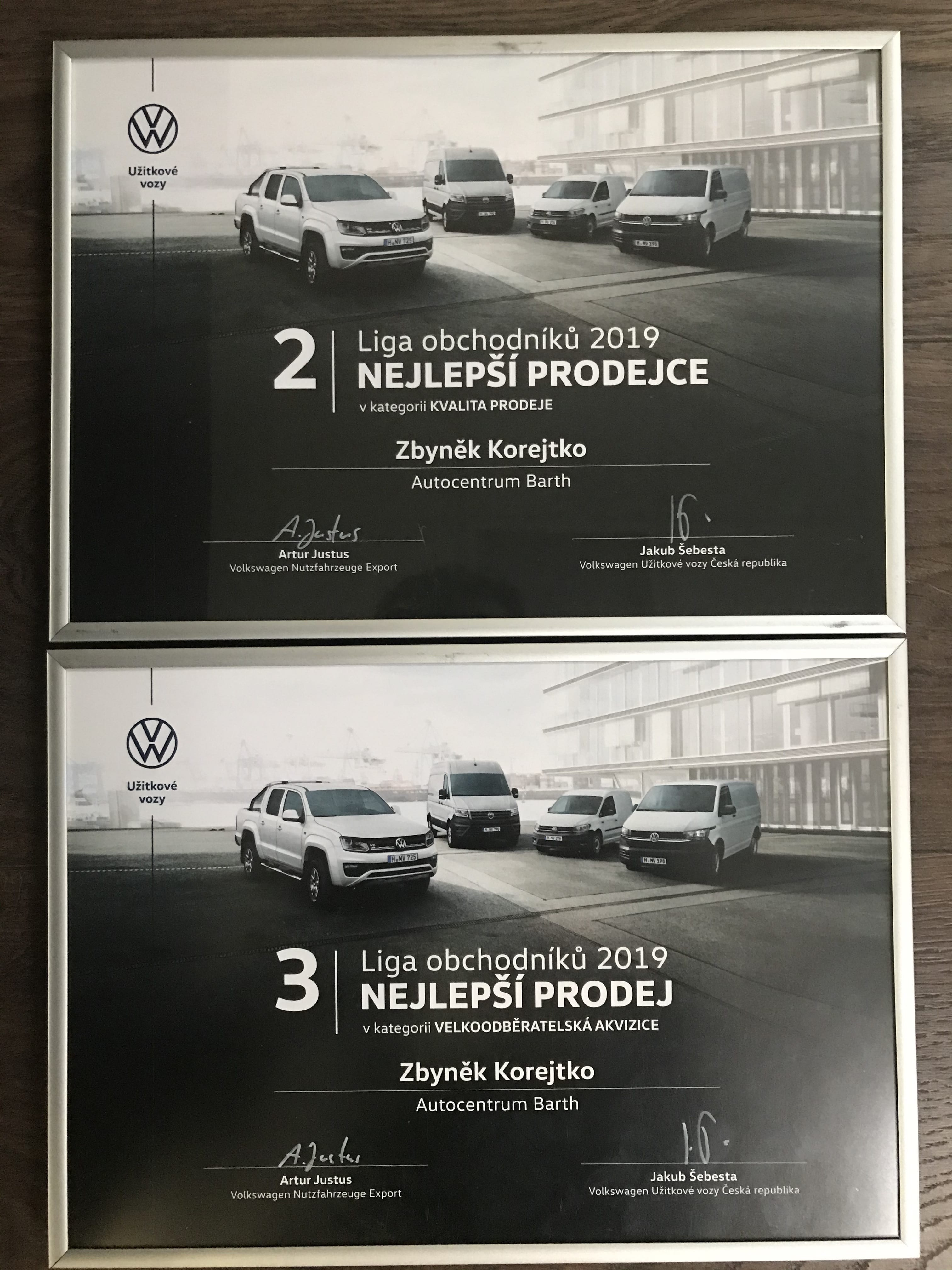 Ocenění Volkswagen